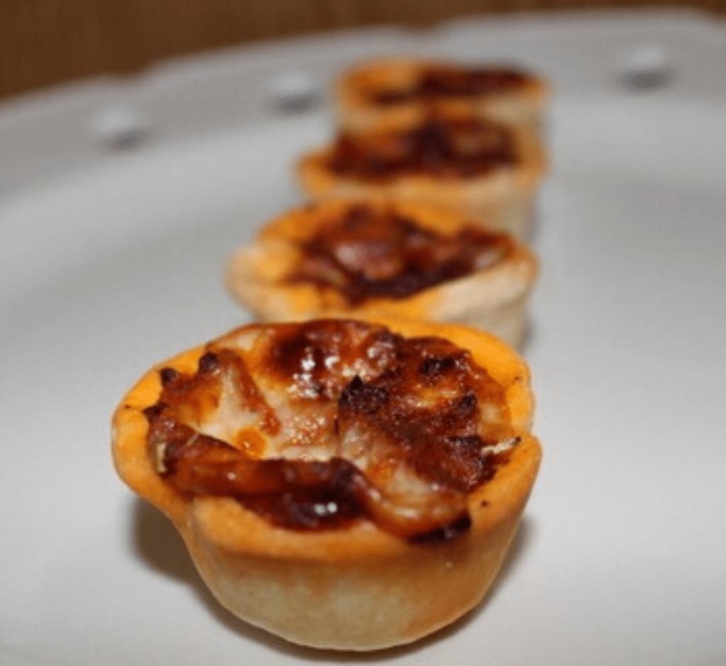 Pizza pie bites on a serving platter